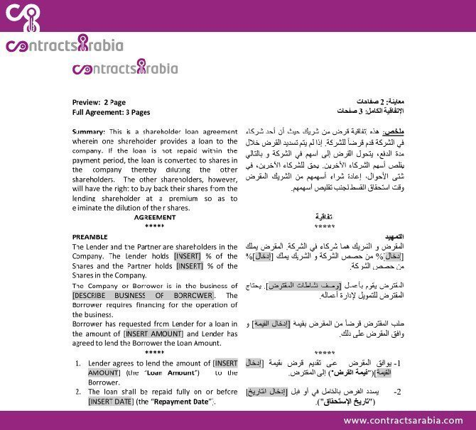 Shareholder Loan Agreement